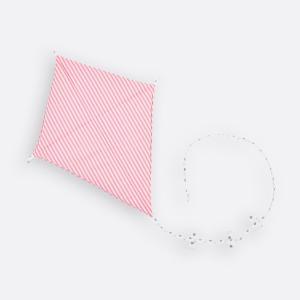 KraftKids Dekoration Luftdrache Streifen rosa