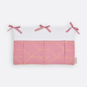 KraftKids Betttasche goldene Linien auf Rosa