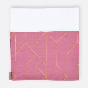 KraftKids Stilltuch goldene Linien auf Rosa