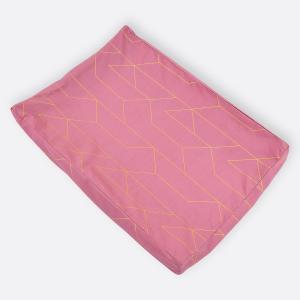 KraftKids Bezug für Keilwickelauflage goldene Linien auf Rosa