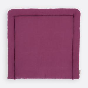 KraftKids Wickelauflage Musselin purpur breit 75 x tief 70 cm