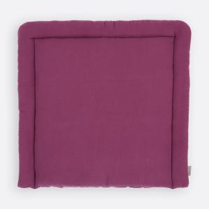 KraftKids Wickelauflage Musselin purpur breit 78 x tief 78 cm z. B. für MALM oder HEMNES Kommodenaufsatz von KraftKids