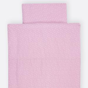 KraftKids Bettwäscheset Musselin rosa Pusteblumen 140 x 200 cm, Kissen 80 x 80 cm