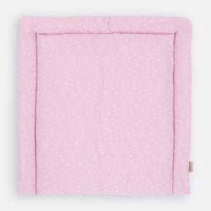KraftKids Wickelauflage Musselin rosa Pusteblumen breit 75 x tief 70 cm