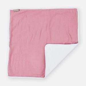 KraftKids Wickelunterlage Musselin rosa 3 Lagen wasserundurchlässig weich Frotte 100% Baumwolle