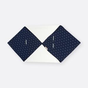 KraftKids Decke für Babyschale Winter Musselin dunkelblau Anker