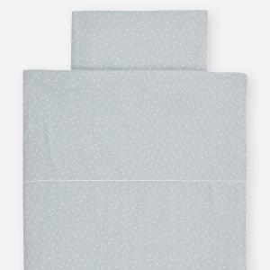 KraftKids Bettwäscheset Musselin grau Pusteblumen 140 x 200 cm, Kissen 80 x 80 cm