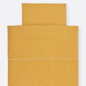KraftKids Bettwäscheset Musselin gelb Pusteblumen 140 x 200 cm, Kissen 80 x 80 cm