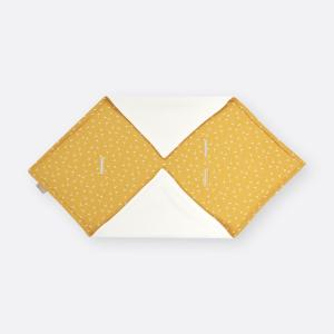 KraftKids Einschlagdecke für Babyschale Musselin gelb Pusteblumen