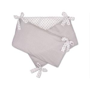 KraftKids Nestchen graue Punkte auf Weiss Nestchenlänge 60-70-60 cm für Bettgröße 140 x 70 cm