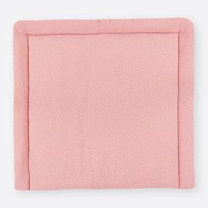 KraftKids Wickelauflage Musselin rosa Punkte 85 cm breit x 75 cm tief