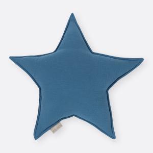 KraftKids Dekoration Sternkissen Musselin blau