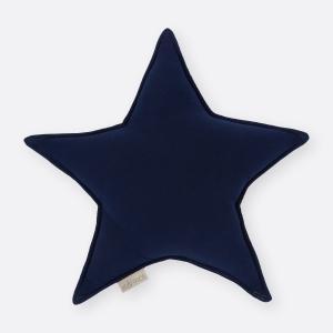 KraftKids Sternkissen Musselin dunkelblau