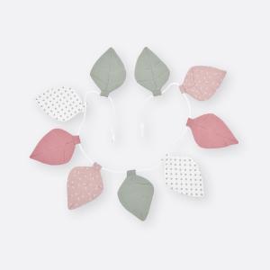 KraftKids Dekoration Wimpelkette Musselin rosa mint graue Punkte auf Wei?