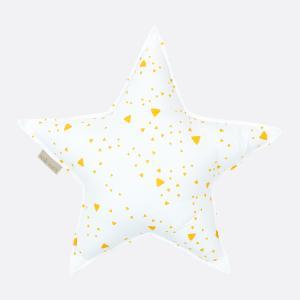 KraftKids Dekoration Sternkissen abgerundete Dreiecke gelb