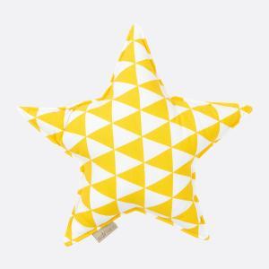 KraftKids Dekoration Sternkissen gelbe Dreiecke
