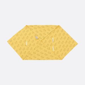 KraftKids Einschlagdecke für Babyschale Sommer Musselin gelb Lamma