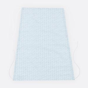 KraftKids Sonnensegel weiße Feder Muster auf Blau