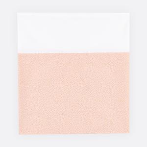 KraftKids Stilltuch goldene unregelmäßige Punkte auf Rosa