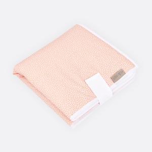 KraftKids Reisewickelunterlage goldene unregelmäßige Punkte auf Rosa 3 Lagen wasserundurchlässig weich Frotte 100% Baumwolle