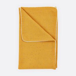 KraftKids Babydecke Musselin goldene Punkte auf Gelb