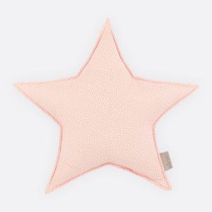 KraftKids Sternkissen goldene unregelmäßige Punkte auf Rosa