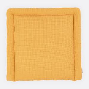 KraftKids Wickelauflage Waffel Piqué mustard breit 75 x tief 70 cm