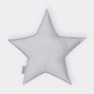 KraftKids Tipi Sets in Grau kleine Blätter hellgrau auf Weiß