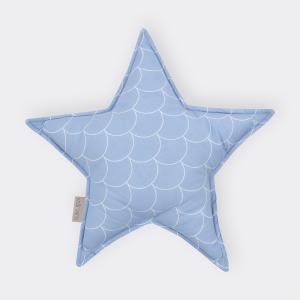 KraftKids Tipi Sets in Blau weiße Halbkreise auf Pastelblau