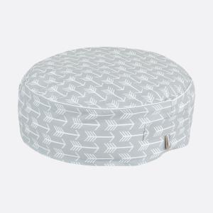 KraftKids Tipi Sets in Grau weiße Pfeile auf Grau mit Micro-EPS-Perlen mit TOXPROOF-ZERTIFIKAT des TÜV-Rheinland