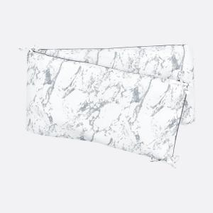 KraftKids Nestchen weißer Marmor Nestchenlänge 60-70-60 cm für Bettgröße 140 x 70 cm