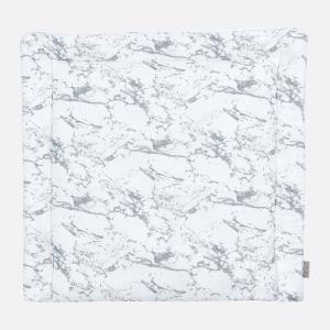 KraftKids Wickelauflage weißer Marmor breit 78 x tief 78 cm z. B. für MALM oder HEMNES Kommodenaufsatz von KraftKids