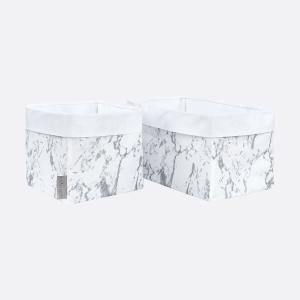 KraftKids Körbchen weißer Marmor 20 x 20 x 20 cm