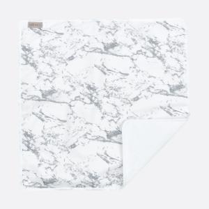 KraftKids Wickelunterlage weißer Marmor 3 Lagen wasserundurchlässig weich Frotte 100% Baumwolle