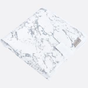 KraftKids Reisewickelunterlage weißer Marmor 3 Lagen wasserundurchlässig weich Frotte 100% Baumwolle