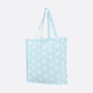 KraftKids Tragetasche weiße Diamante auf Pastel Blau Shopper