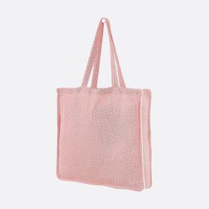 KraftKids Tragetasche Musselin rosa Punkte Shopper