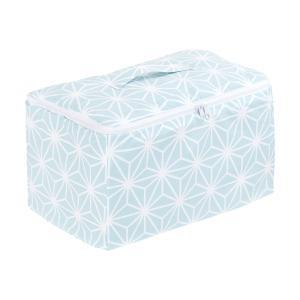 KraftKids Aufbewahrungsbox Stoff weiße Diamante auf Pastel Blau 33 x 20 x 20 cm