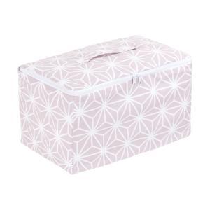 KraftKids Körbchen verschliessbar weiße Diamante auf Cameo Rosa 33 x 20 x 20 cm