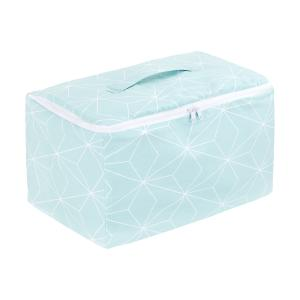 KraftKids Körbchen verschliessbar weiße dünne Diamante auf Mint 33 x 20 x 20 cm