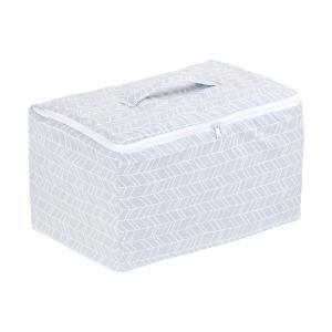 KraftKids Aufbewahrungsbox Stoff weiße Pfeile auf Grau 33 x 20 x 20 cm