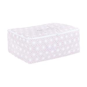 KraftKids Körbchen für Unterbett weiße Diamante auf Cameo Rosa 60 x 40 x 17 cm