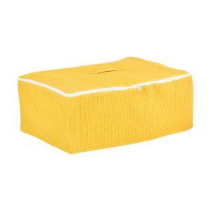 KraftKids Körbchen für Unterbett Waffel Piqué mustard 60 x 40 x 17 cm