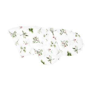 KraftKids Stillkissenbezug Zweige grün rot auf Weiß