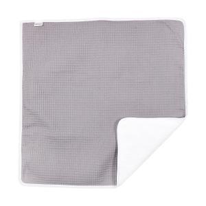 KraftKids Wickelunterlage Waffel Piqué grau 3 Lagen wasserundurchlässig weich Frotte 100% Baumwolle