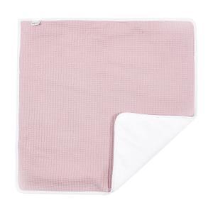 KraftKids Wickelunterlage Waffel Piqué rosa 3 Lagen wasserundurchlässig weich Frotte 100% Baumwolle