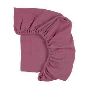 KraftKids Spannbettlaken Musselin purpur passend für Matratze 120 x 60 cm