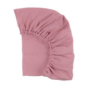 KraftKids Spannbettlaken Musselin rosa passend für Matratze 140 x 70 cm
