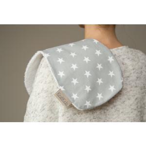 KraftKids Spucktuch kleine weiße Sterne auf Grau