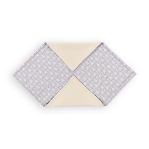 KraftKids Decke für Babyschale Winter weiße Pfeile auf Grau